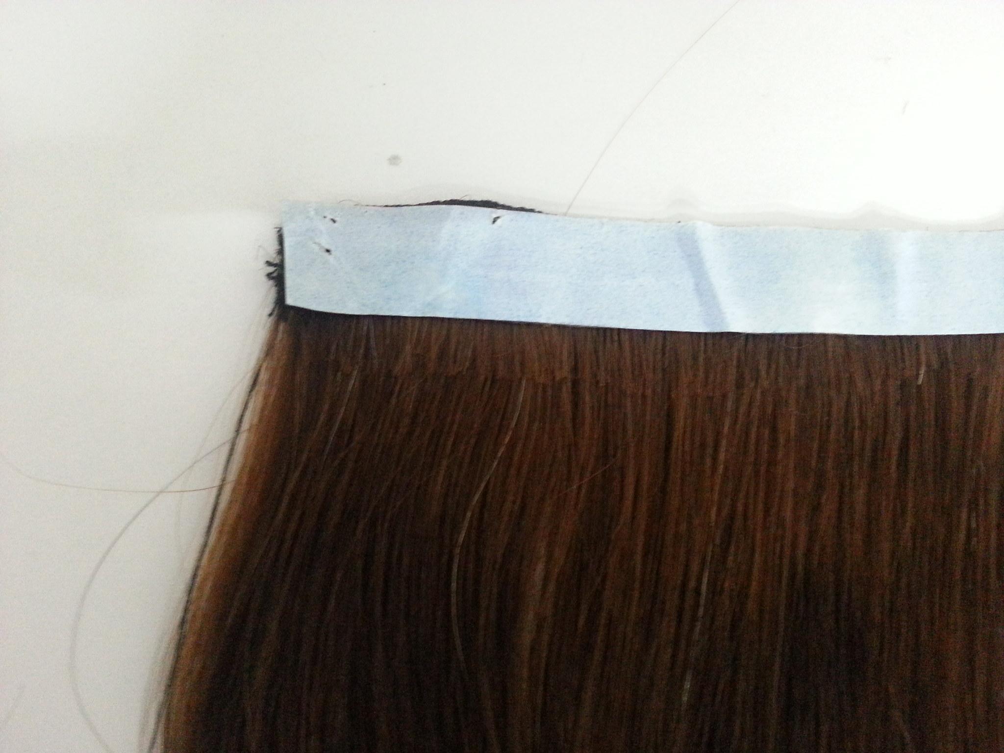 Fita adesiva azul dupla face Lace Front transparente 11m - Fina