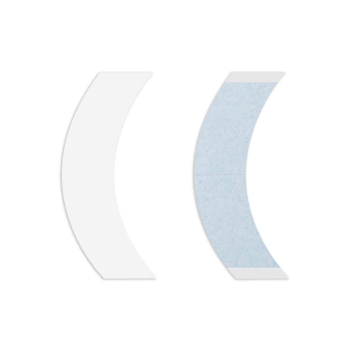 Fita adesiva dupla face Lace Front transparente curva - 36unid