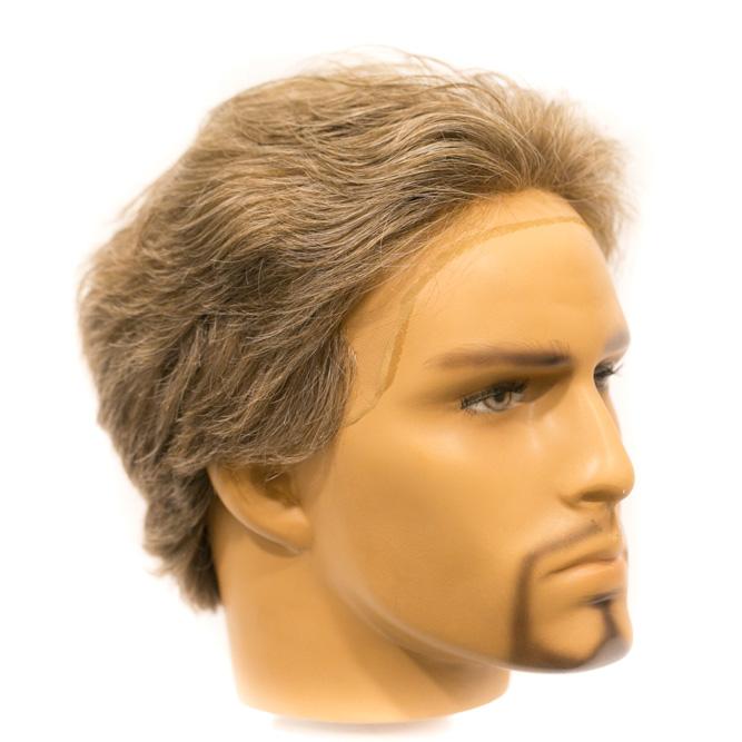 Prótese Inteira Base french lace - cabelo Processado + Sintético